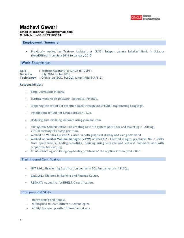 madhavi resume