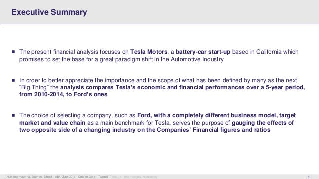 financial business analysis tesla motors