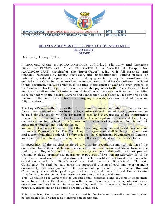 Draft Doa190 190 2501 M Agreement With Letterhead