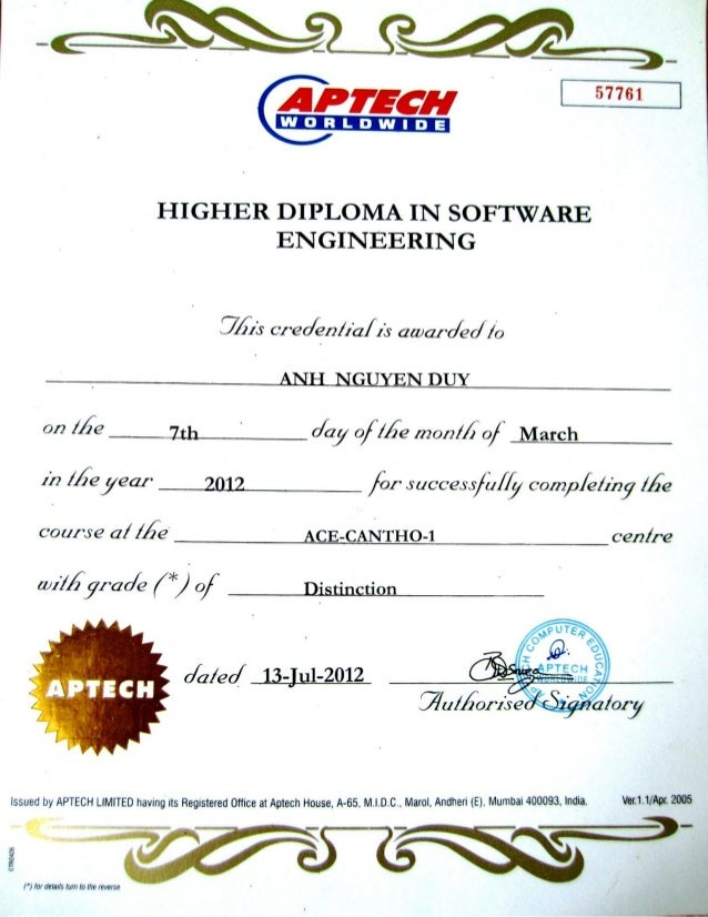 Higher Diploma In Software Engineering