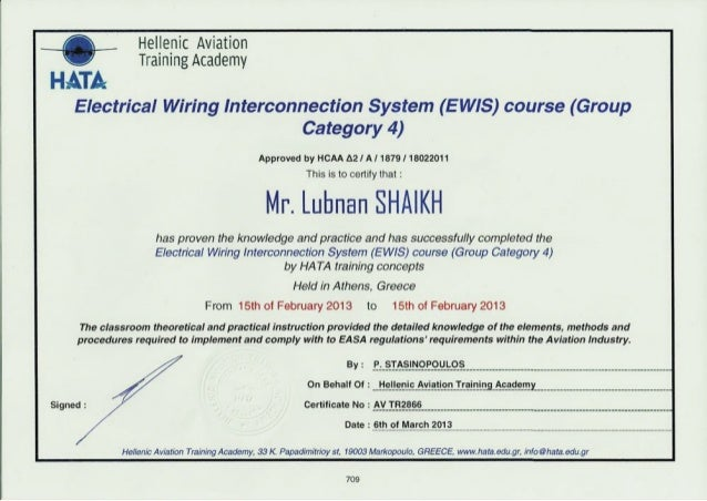 aviation electrical wiring interconnection system rh slideshare net electrical wiring certificate uk electrical wiring certificate cost