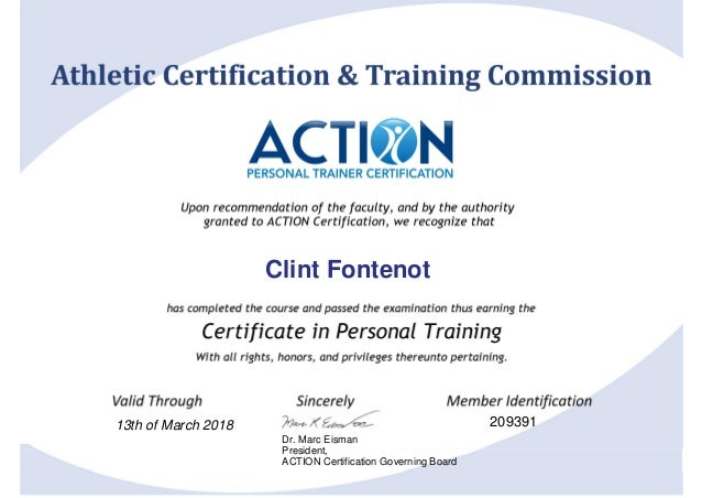 certificate-training action