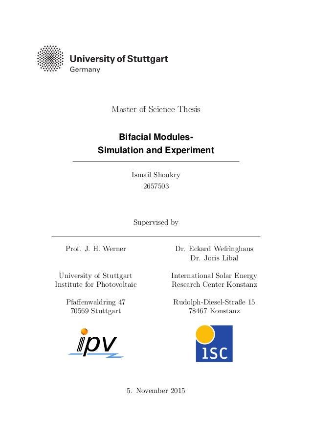 Phd thesis simulation