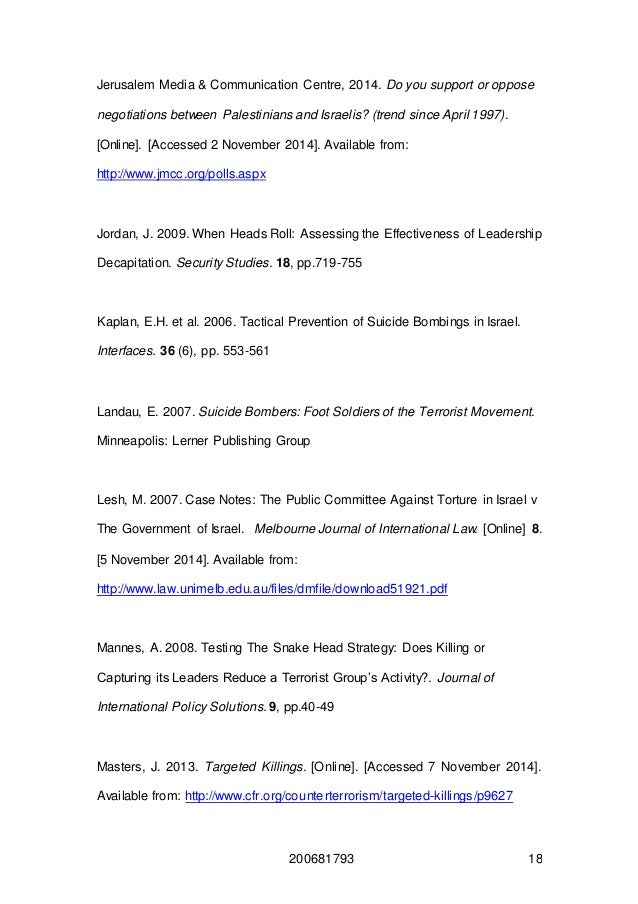 Resolution on War on Terrorism Essay
