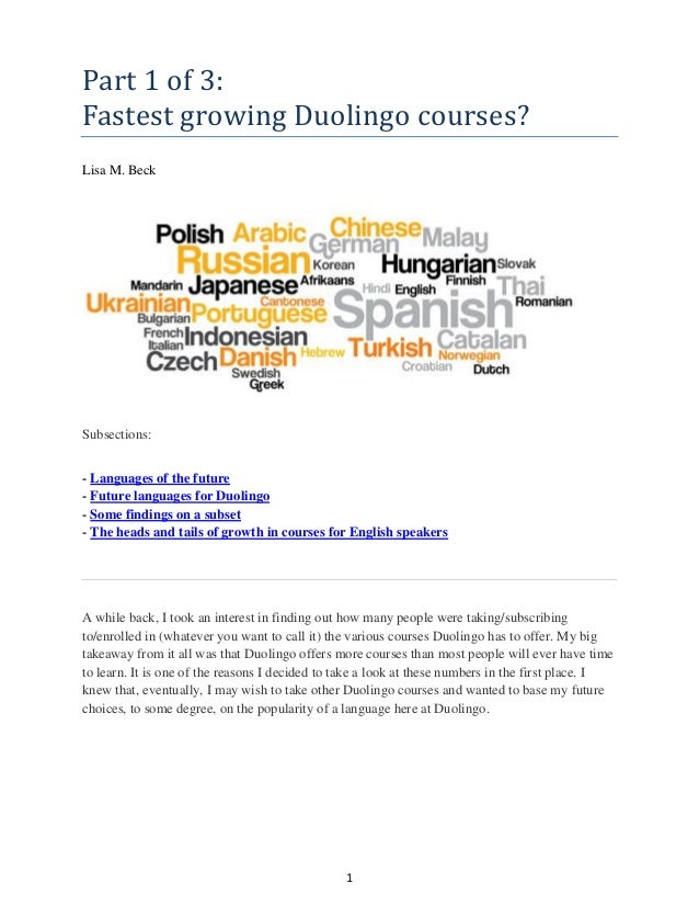 Part 1 of 3_Fastest Growing Duolingo Courses