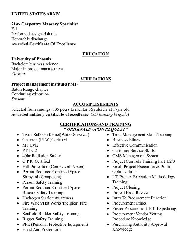 army resume builder - Army Resume Builder