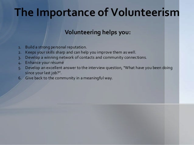 career coach and volunteer presentation