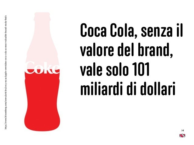 14 Coca Cola, senza il valore del brand,  vale solo 101 miliardi di dollari http://www.bloomberg.com/news/articles/2013-0...