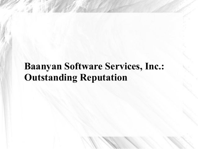 Baanyan Software Services, Inc.: Outstanding Reputation