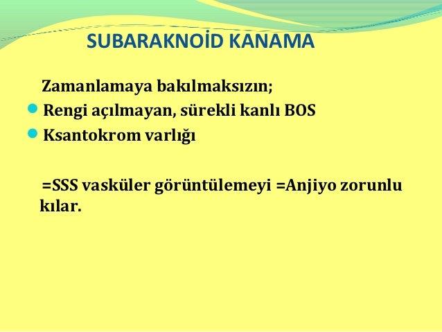 SUBARAKNOİD KANAMANimodipine: 60 mg PO 6 saatte bir    İskemiye  neden olan vasospasm sıklığını ve     şiddetini azaltır...