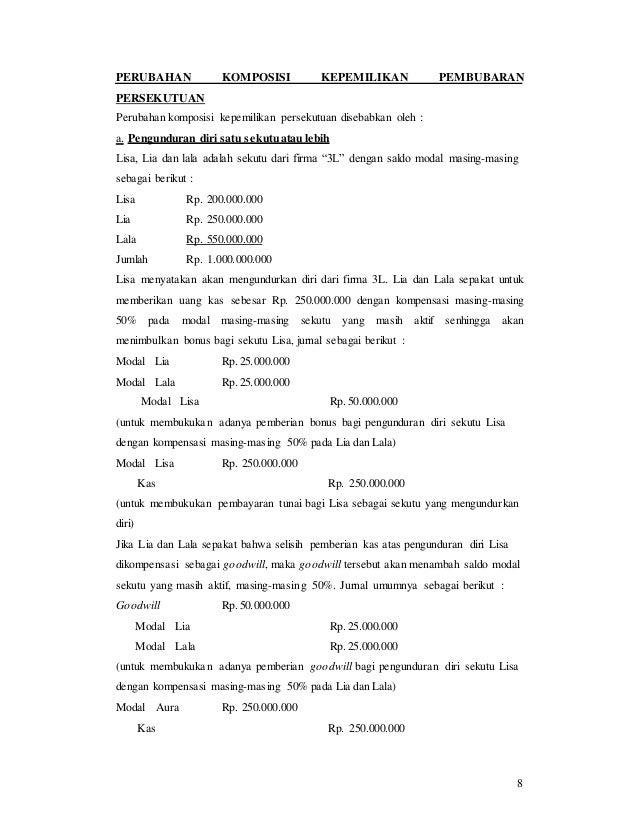 Bab 1 Materi Persekutuan Akuntansi Keuangan Lanjutan