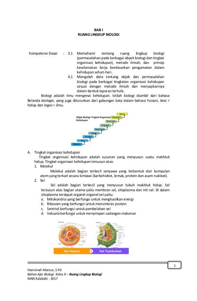 Bab 1 Ruang Lingkup Biologi
