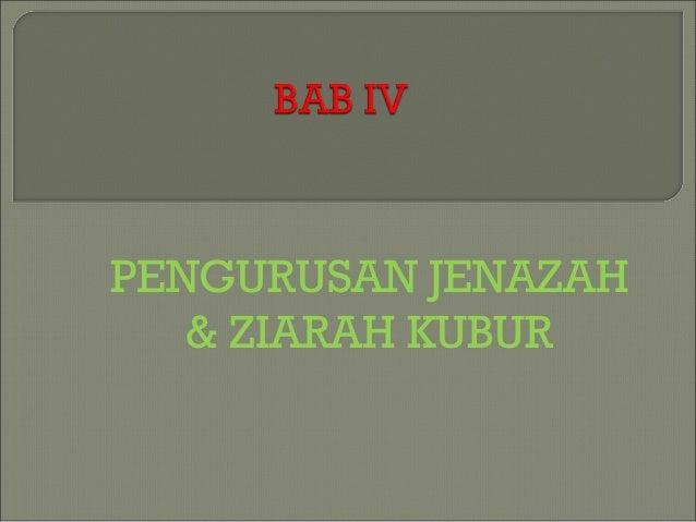 PENGURUSAN JENAZAH & ZIARAH KUBUR