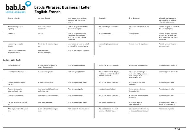Phrases business letter english french 2 bab phrases business letter english french dear spiritdancerdesigns