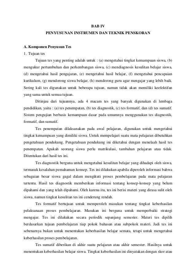 Bab 4 Penyusunan Instrumen Dan Teknik Penskoran 27 12 13
