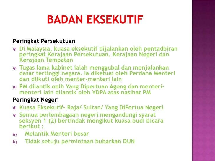 komponen utama sistem kerajaan malaysia pdf