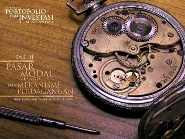 PASAR MODAL DI INDONESIA                                              1/39   Pasar modal Indonesia dibentuk untuk    meng...