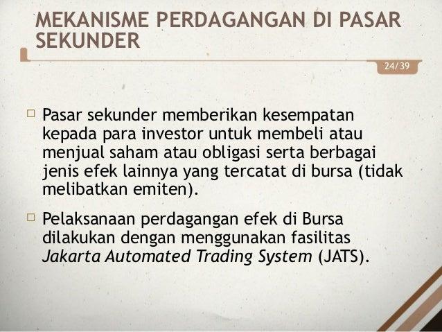 Sistem perdagangan obligasi
