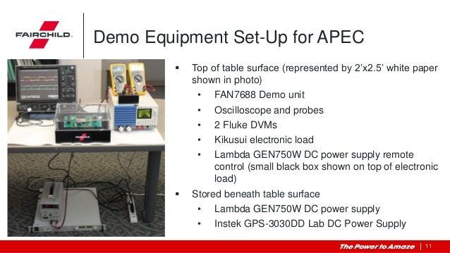 Fan7688 Apec Demo Configuration Instructions
