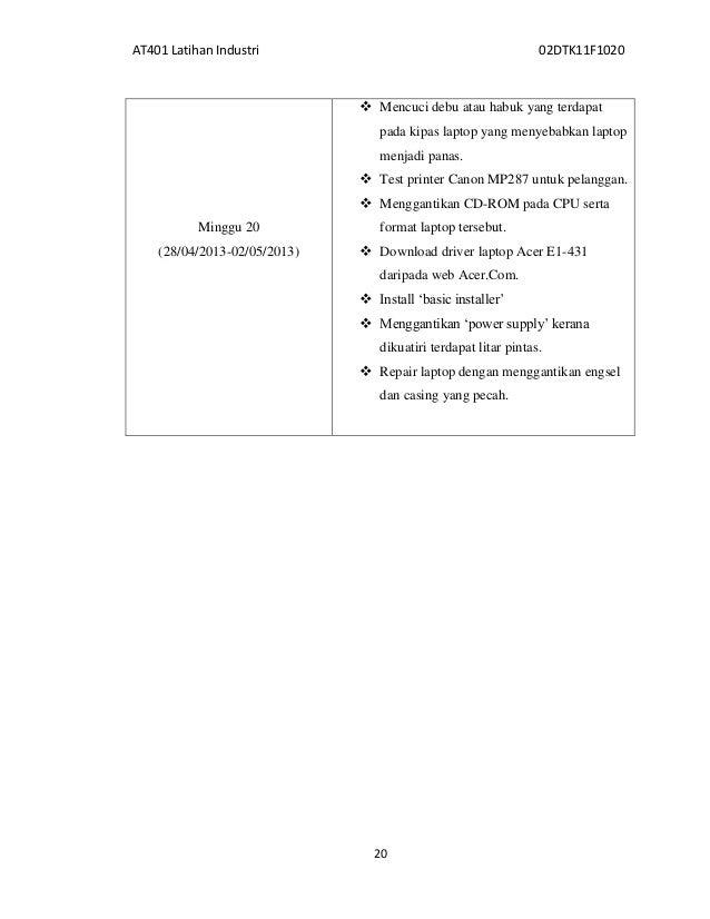 Contoh Format Laporan Latihan Industri Uitm Lkit 2017