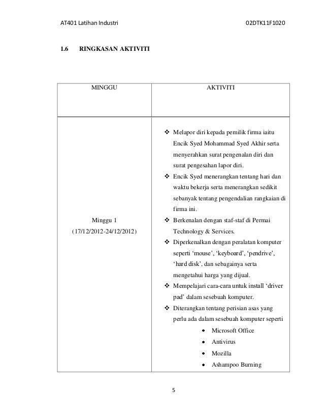 Report Latihan Industri Politeknik Bab 1