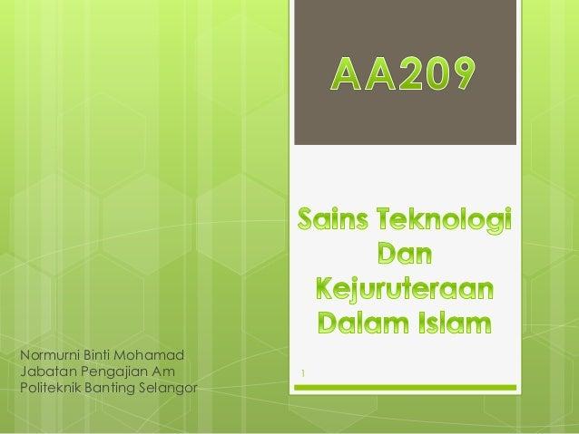 Normurni Binti Mohamad Jabatan Pengajian Am Politeknik Banting Selangor 1