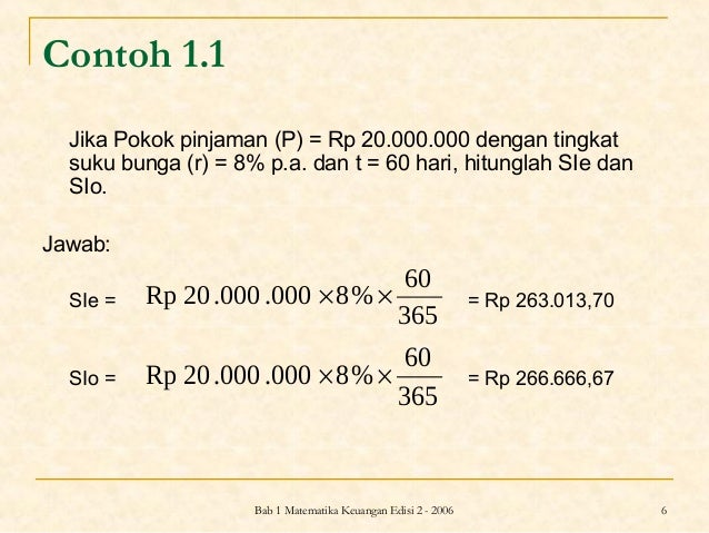 Matematika Keuangan Bunga Sederhana
