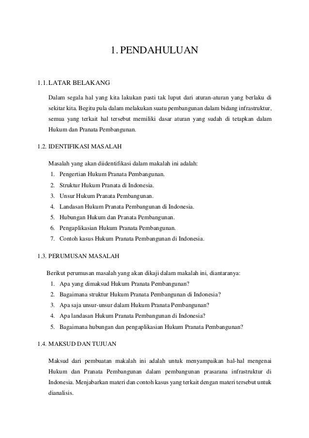 contoh bab 1  pendahuluan makalah