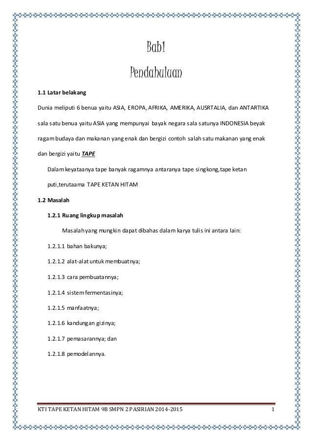 Bab I Iv Pembuatan Tape Ketan Hitam Aziz Dkk