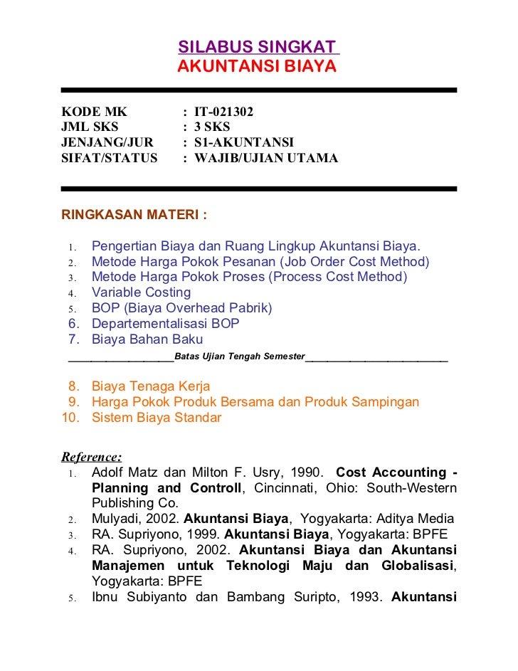 Buku Akuntansi Biaya Karangan Mulyadi Pdf