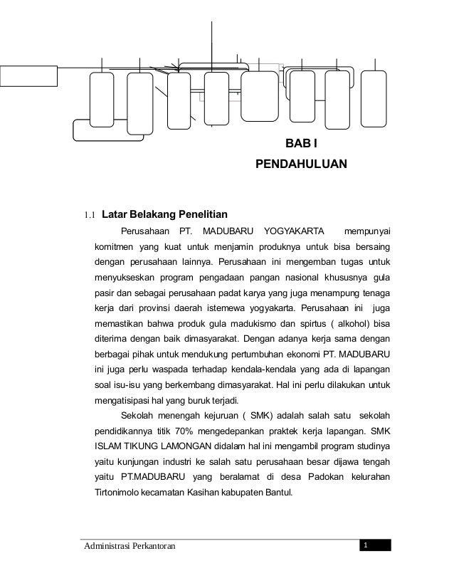 BAB I PENDAHULUAN 1.1 Latar Belakang Penelitian Perusahaan PT. MADUBARU YOGYAKARTA mempunyai komitmen yang kuat untuk menj...