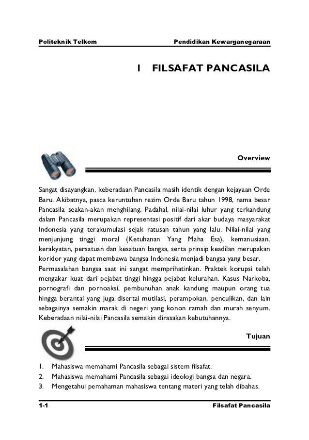 Politeknik Telkom                           Pendidikan Kewarganegaraan                                1 FILSAFAT PANCASILA...