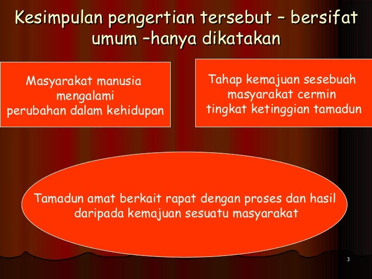 definisi tamadun melayu Dalam bahasa melayu yang biasa digunakan adalah kebudayaan, peradaban,  tamadun dan madani tamadun dari segi pengertian,.