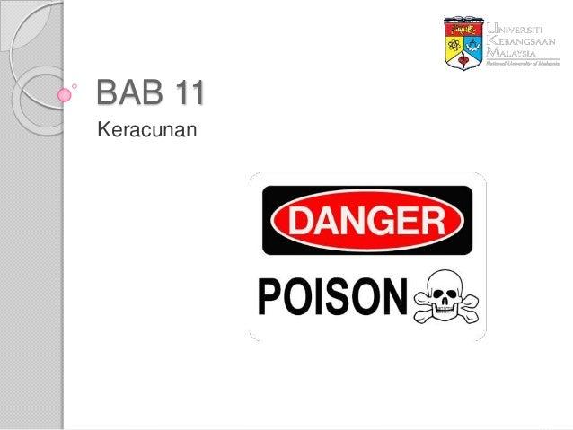BAB 11 Keracunan