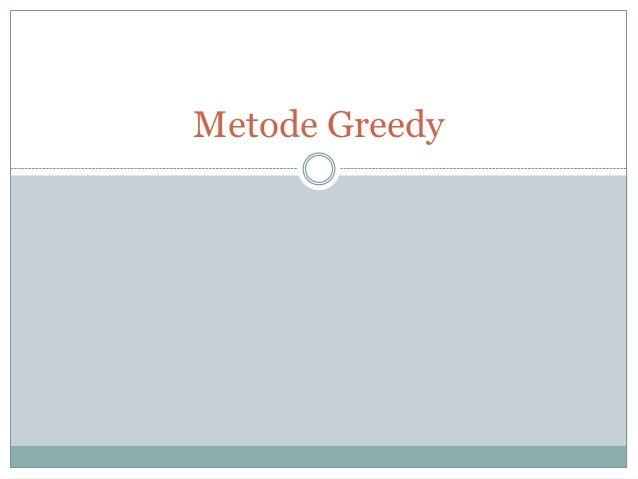 Metode Greedy