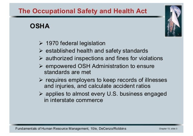 Chapter 13 Health and Safety