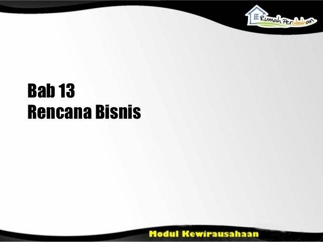 Bab 13Rencana Bisnis