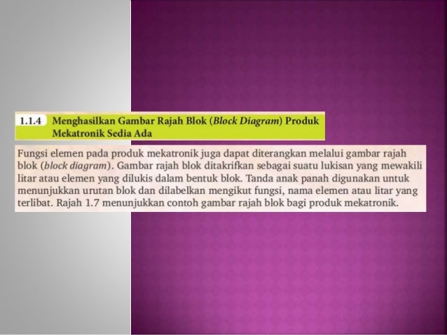 Bab 1 aplikasi teknologi bhg 2 (mekatronik) Slide 3