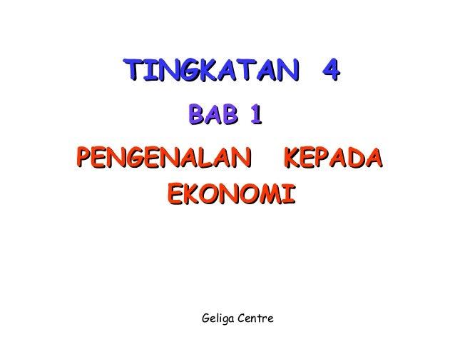 Bab1 Tingkatan 4 Ekonomi Asas