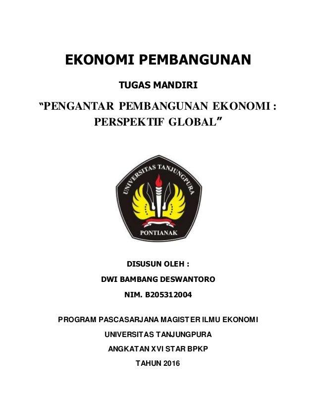 Bab 1 Pengantar Pembangunan Ekonomi Prespektif Global