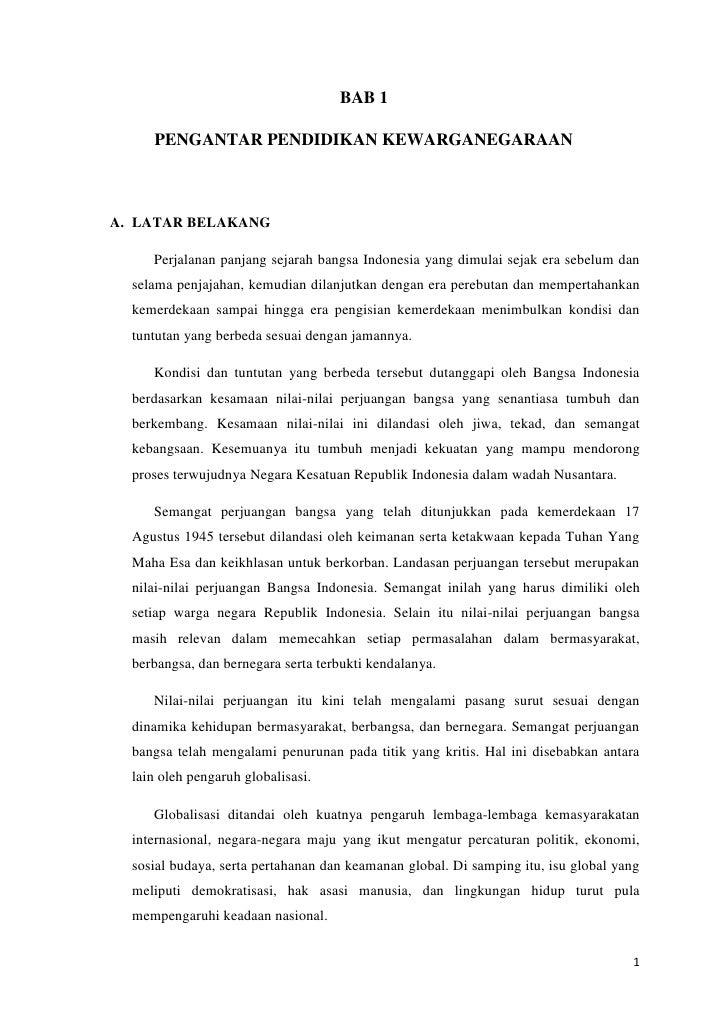 Bab 1 Pengantar Pendidikan Kewarganegaraan