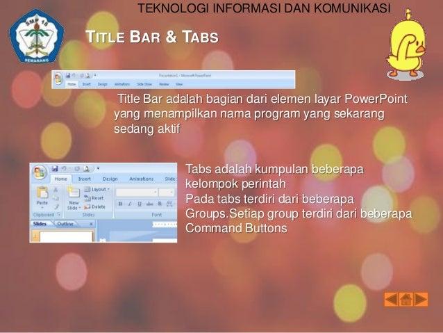 TEKNOLOGI INFORMASI DAN KOMUNIKASI  GROUPS SLIDE SHOW & GROUPS REVIEW Groups Slide Show   From beginning : Menjalankan sl...