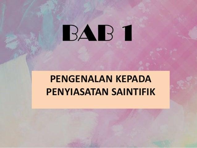 Bab 1 Sains Kssm 2017