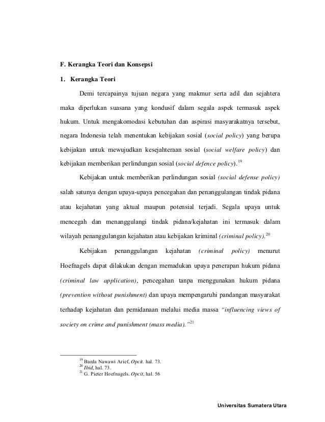 Tesis Hukum Pidana Usu Fakultas Hukum Usu Facebook