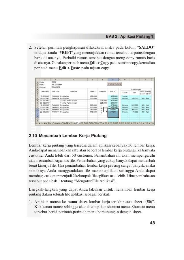 Rumus Excel Keterangan Lunas Indoetnix Artech Salatiga Aplikasi Akuntansi Excel Bab 2 Aplikasi