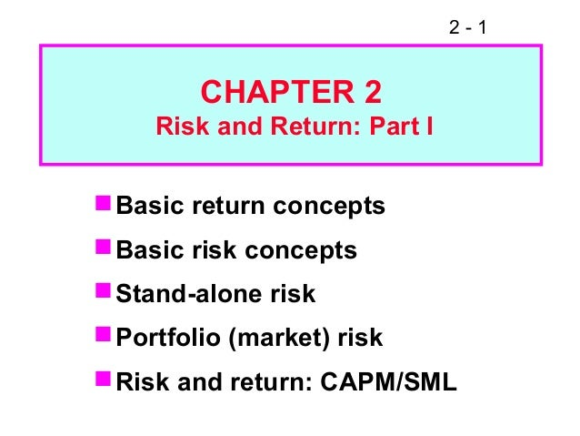 risk and return part ii Portfolio risk and return 2 of 2 portfolio risk and return practice problems problem 1 what is the portfolio return and standard deviation for a two-asset portfolio comprised of the following two assets if the correlation of their.