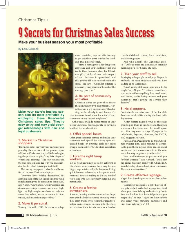 50 år fest tips 9 Secrets to Christmas Sales Success 50 år fest tips