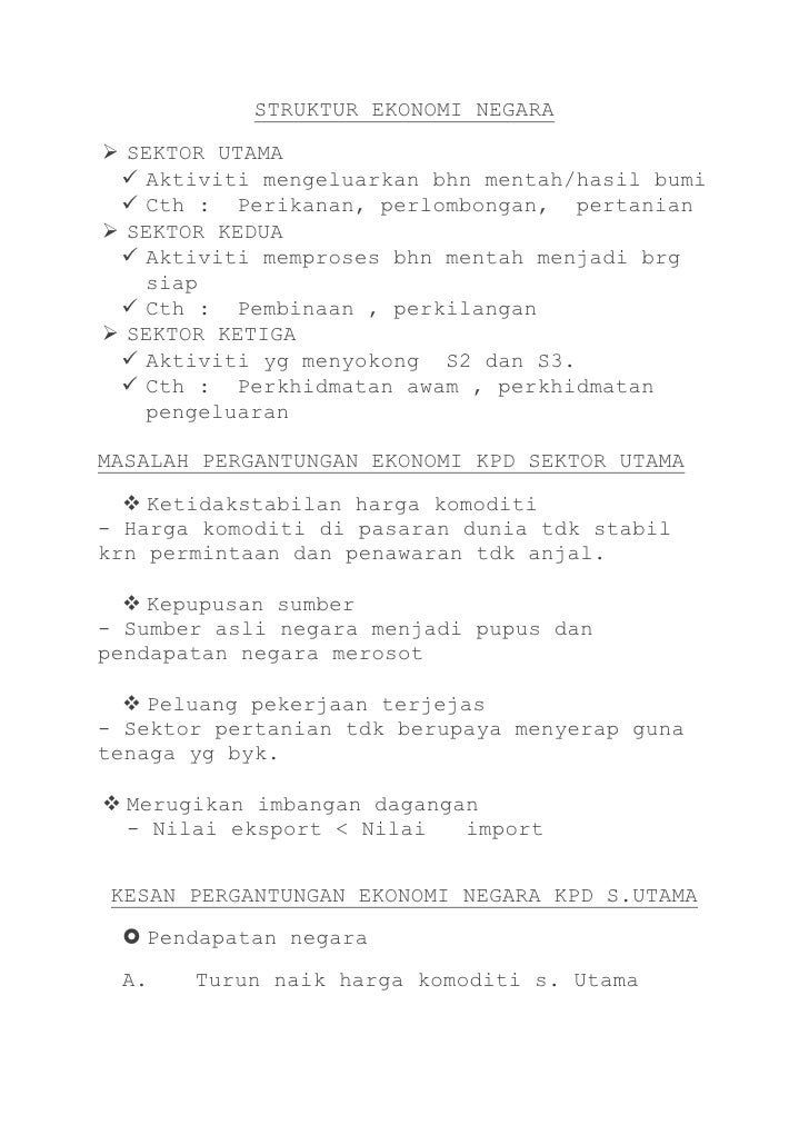 Bab 2 Ekonomi Malaysia Ea Tingkatan 5