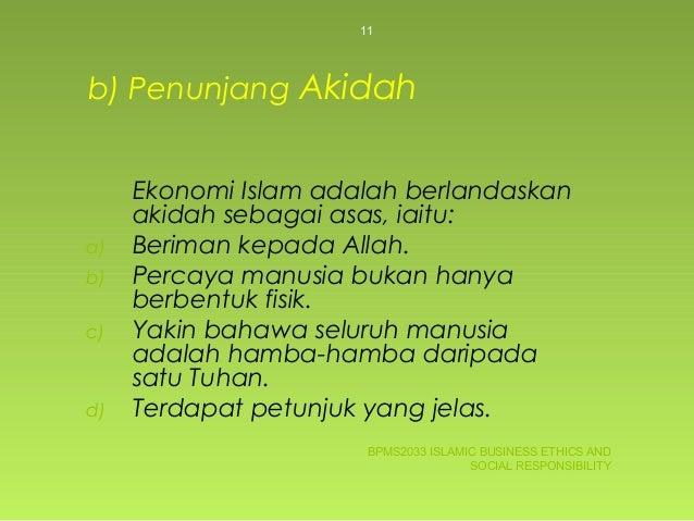 ... 11. b) Penunjang Akidah Ekonomi Islam ... 645997e7f0