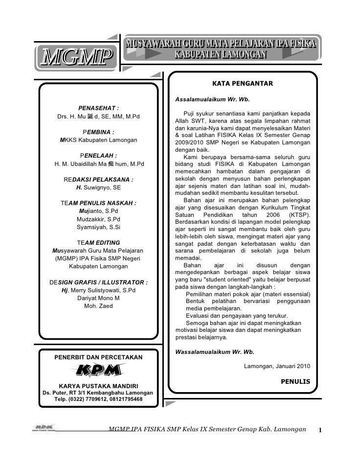 KATA PENGANTAR                                         Assalamualaikum Wr. Wb.             PENASEHAT :     Drs. H. Mu 誕 d,...